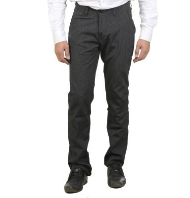 Ethzone Regular Fit Men's Black Trousers