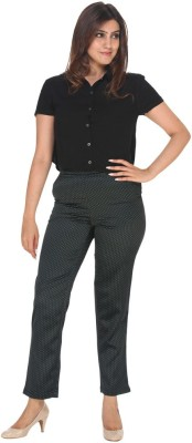 Fast n Fashion Regular Fit Women's Black, Green Trousers