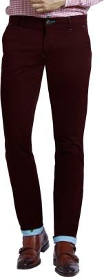 Specimen Slim Fit Men's Maroon Trousers