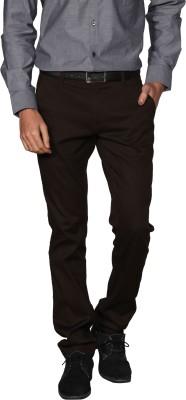 Provogue Regular Fit Men's Brown Trousers