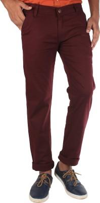 Bdow Slim Fit Men,s Maroon Trousers