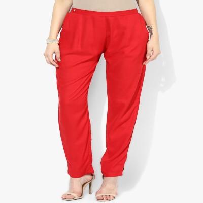 shree Regular Fit Women's Red Trousers