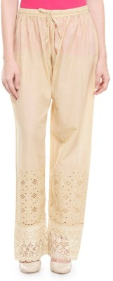 Stay Blessed Regular Fit Women's Beige Trousers