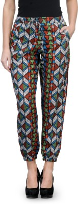 Kiosha Slim Fit Women's Multicolor Trousers