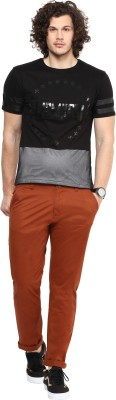 FUNK Slim Fit Men's Brown Trousers