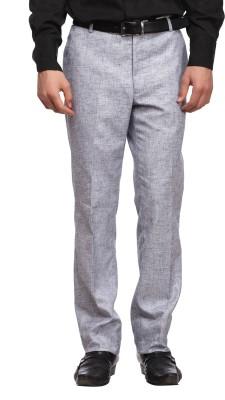 Luxurazi Slim Fit Men,s Linen Blue Trousers