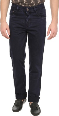 Own Voice Regular Fit Men's Dark Blue Trousers