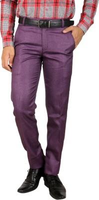 Larwa Fashion Regular Fit Men's Purple Trousers