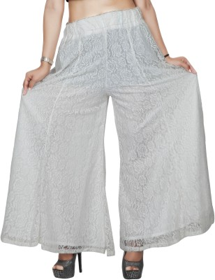 Comix Regular Fit Women's White Trousers