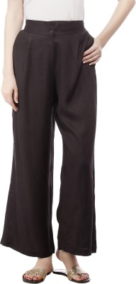 Pistaa Regular Fit Women's Black Trousers