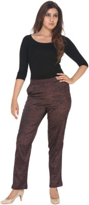 Fast n Fashion Regular Fit Women's Red Trousers at flipkart