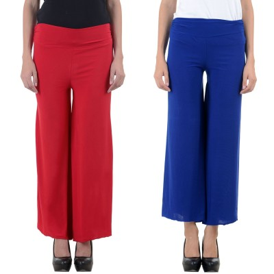 Unitedway Regular Fit Women's Red Trousers