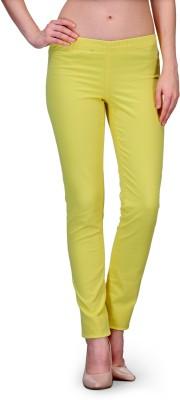 Kiosha Slim Fit Women's Green Trousers