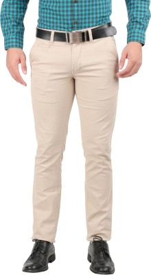 Oxemberg Slim Fit Men's Cream Trousers