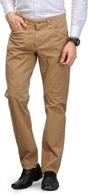 Global Nomad Slim Fit Men's Beige Trousers