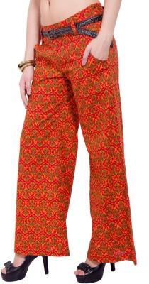 Tuntuk Regular Fit Women's Orange Trousers