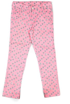 People Regular Fit Girl's Pink Trousers