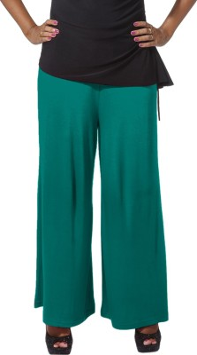 Go Colors Regular Fit Women's Green Trousers