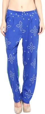 Rose Vanessa Regular Fit Women's Blue Trousers