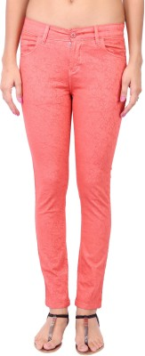 Fashion Cult Slim Fit Women,s Pink Trousers