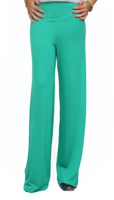 Lady in Red Regular Fit Women's Green Trousers