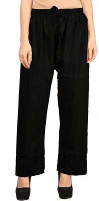Vastraa Fusion Regular Fit Women's Black Trousers