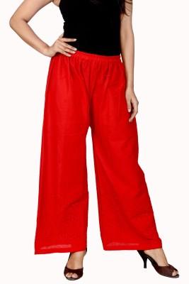 Lystock Regular Fit Women's Red Trousers