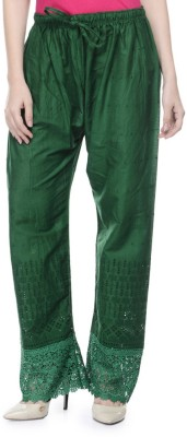 Stay Blessed Regular Fit Women's Dark Green Trousers