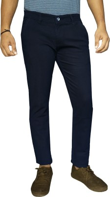 damler Slim Fit Men's Blue Trousers