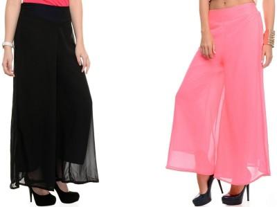 Kyron Regular Fit Women,s Black, Pink Trousers