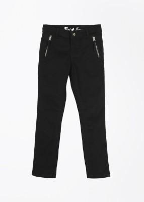 Gini & Jony Slim Fit Girls Black Trousers