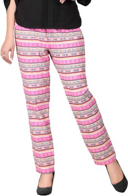 Lifestyle Retail Regular Fit Women's Pink Trousers