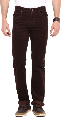 John Pride Slim Fit Men's Brown Trousers