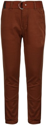 Jazzup Regular Fit Boy's Brown Trousers