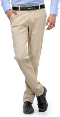 Indiana Slim Fit Men's Beige Trousers