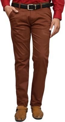 American Noti Slim Fit Men's Maroon Trousers