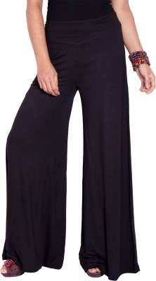 I-Vastra Regular Fit Women's Black Trousers