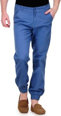 White Kalia Regular Fit Men's Blue Trousers