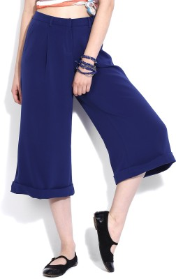 Allen Solly Womens Dark Blue Trousers