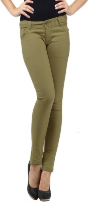 Cottinfab Regular Fit Women's Green Trousers