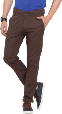 John Pride Slim Fit Men's Green Trousers
