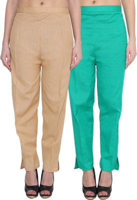 NumBrave Regular Fit Women's Gold, Green Trousers