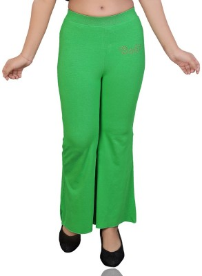 Mint Regular Fit Girl's Green Trousers