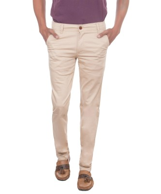 David Flynn Regular Fit Men's Cream Trousers
