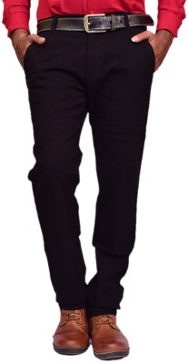 British Terminal Skinny Fit Mens Black Trousers