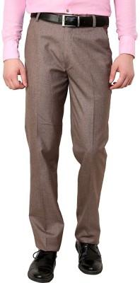 Jaabili Regular Fit Men's Brown Trousers