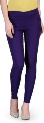 Oleva Slim Fit Women's Purple Trousers