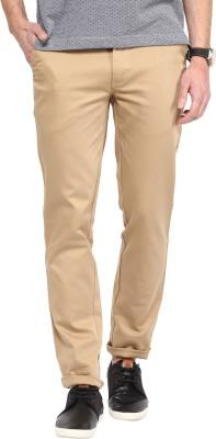 COBB Slim Fit Men's Brown Trousers