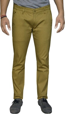 Oiin Regular Fit Men's Yellow Trousers