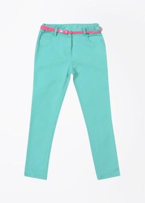 Nauti Nati Baby Girl's Green Trousers